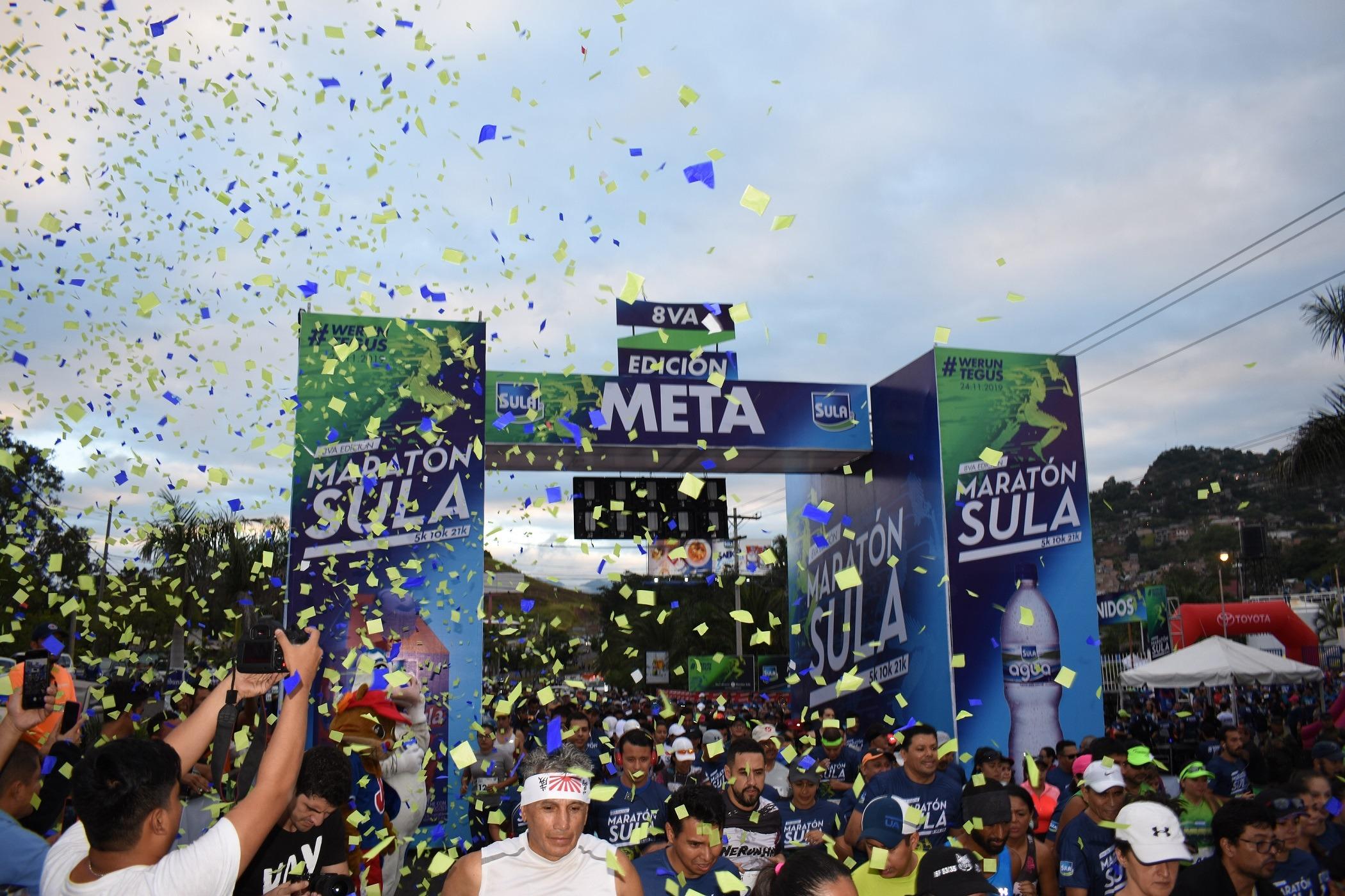 Con más de 3 mil participantes, la octava Maratón Sula concluyó en éxito total