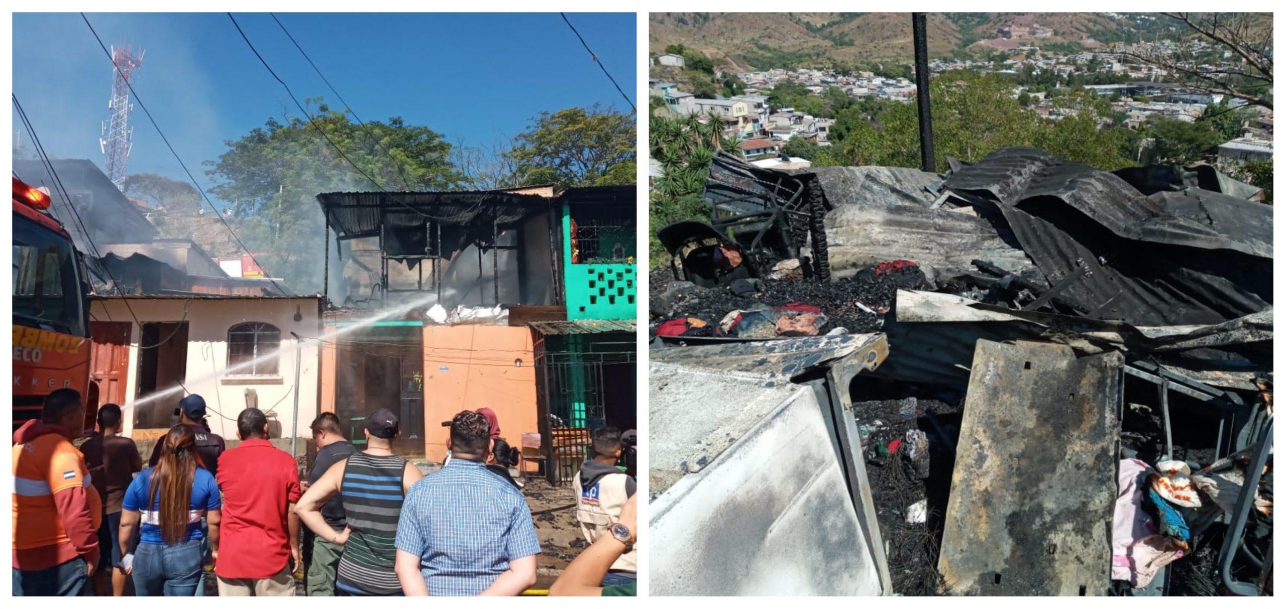 Viernes siniestro: Más de cinco viviendas afectadas en dos estructurales incendios