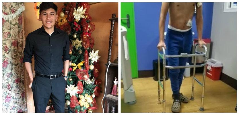 Wilson Berríos da primeros pasos luego de someterse a una craneotomía