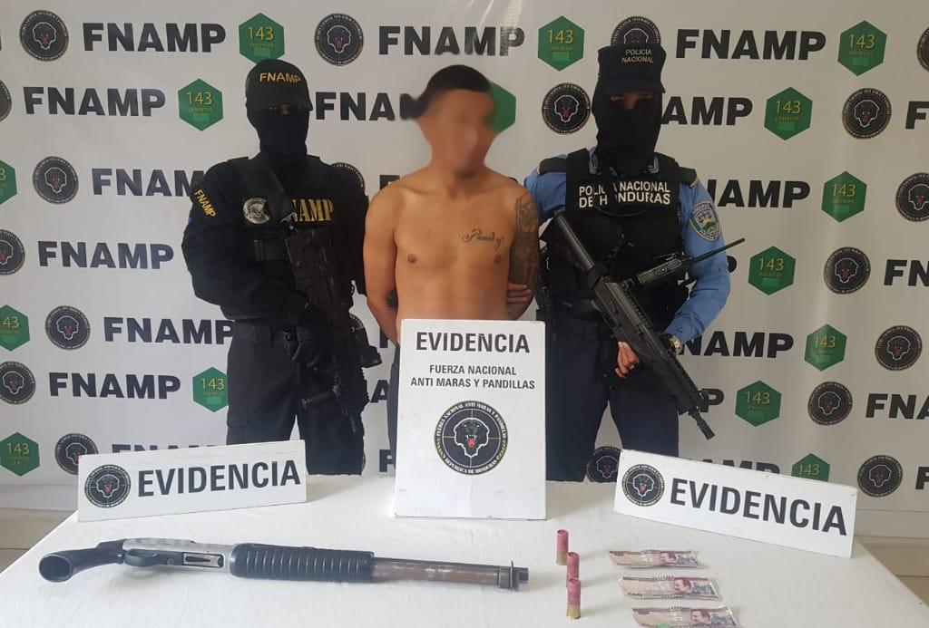 FNAMP captura a supuesto pandillero de la 18 en Amarateca