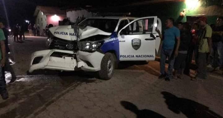 Didapol investigará policías que chocaron carro patrulla en Santa Bárbara