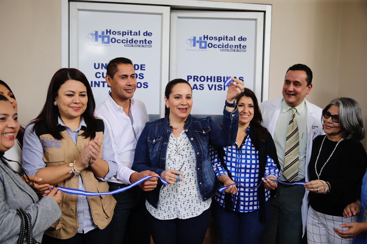 Gobierno inaugura Unidad de Cuidados Intensivos en Hospital Regional de Occidente