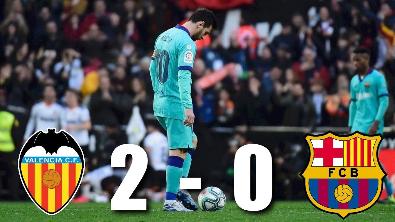 Barcelona pierde la punta frente al Valencia en Mestalla