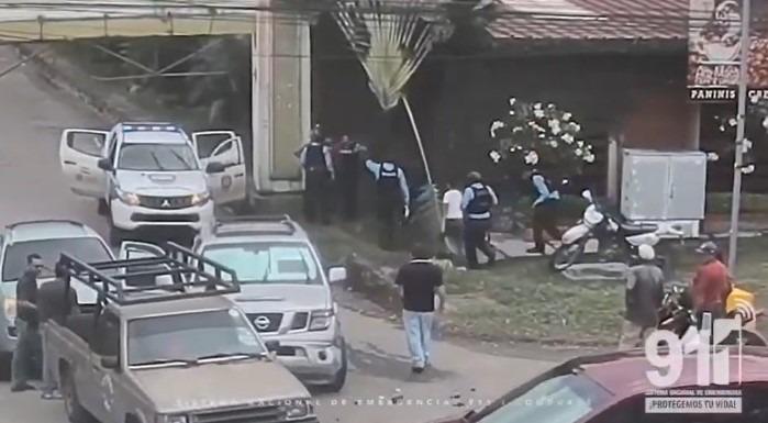 Video del 911 muestra persecución y captura de asaltantes en El Progreso