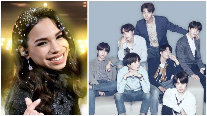 "Polémica: Angie Flores llamó ""feo"" a uno de los integrantes del grupo surcoreano K-POP, BTS."