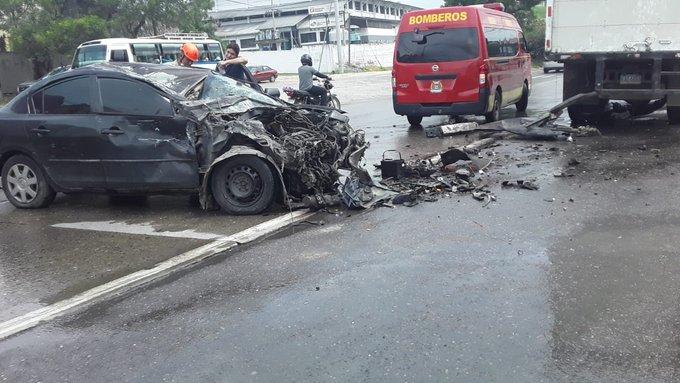 SPS: Aparatoso accidente vial en el Bulevar del Norte