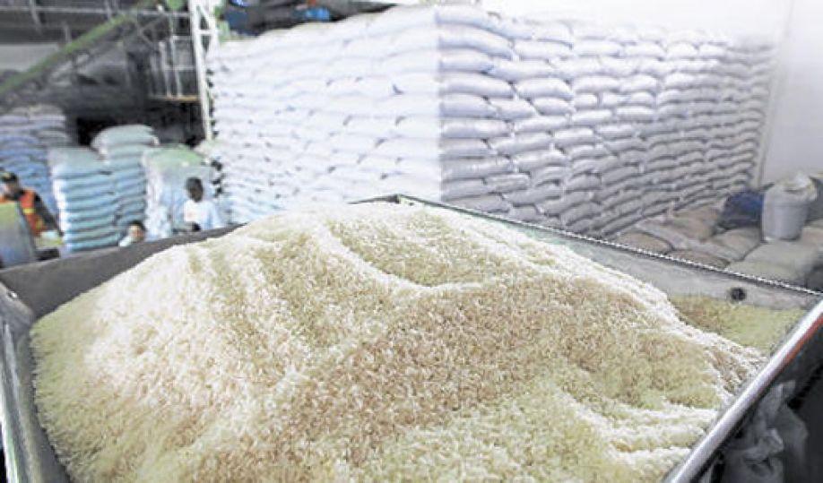 Unos 400 mil quintales de arroz podrían perderse en el país