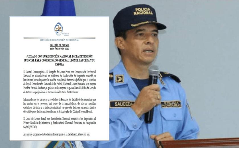 Dictan detención judicial para comisionado de La Policía Leonel Sauceda y su esposa