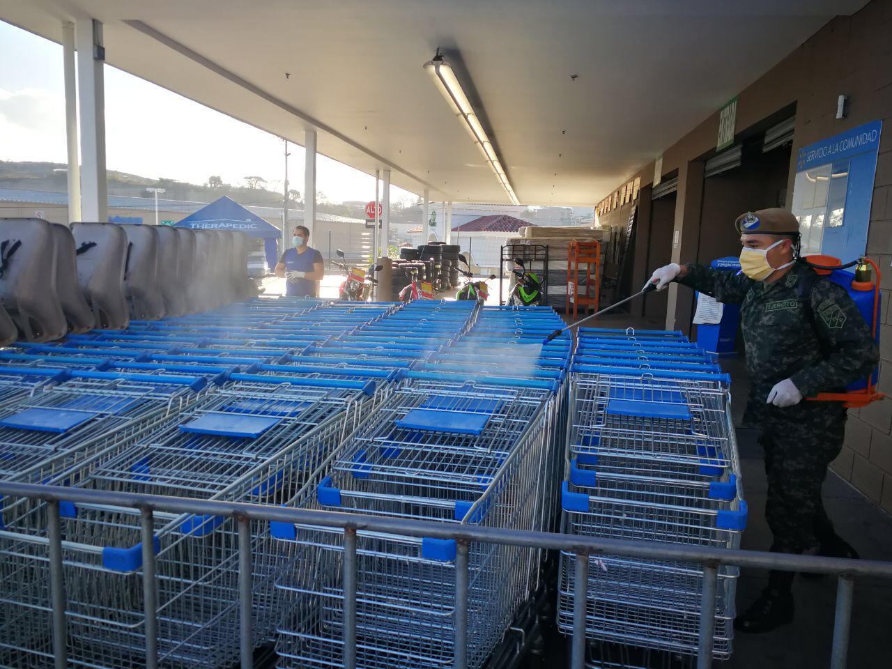 Desinfecciones múltiples en mercados y supermercados