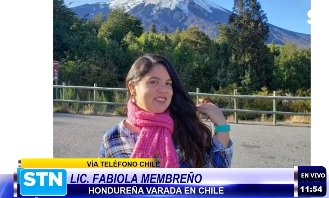 Periodista varada en Chile solicita a autoridades gestionar su regreso al país