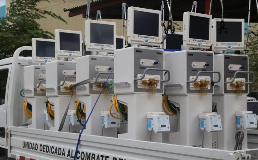 Llegan 20 ventiladores mecánicos comprados por Invest-H para aumentar capacidad del Hospital Leonardo Martínez