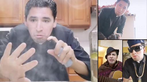 Sacerdote Boliviano  causa furor en Tik Tok mostrando su faceta humorística