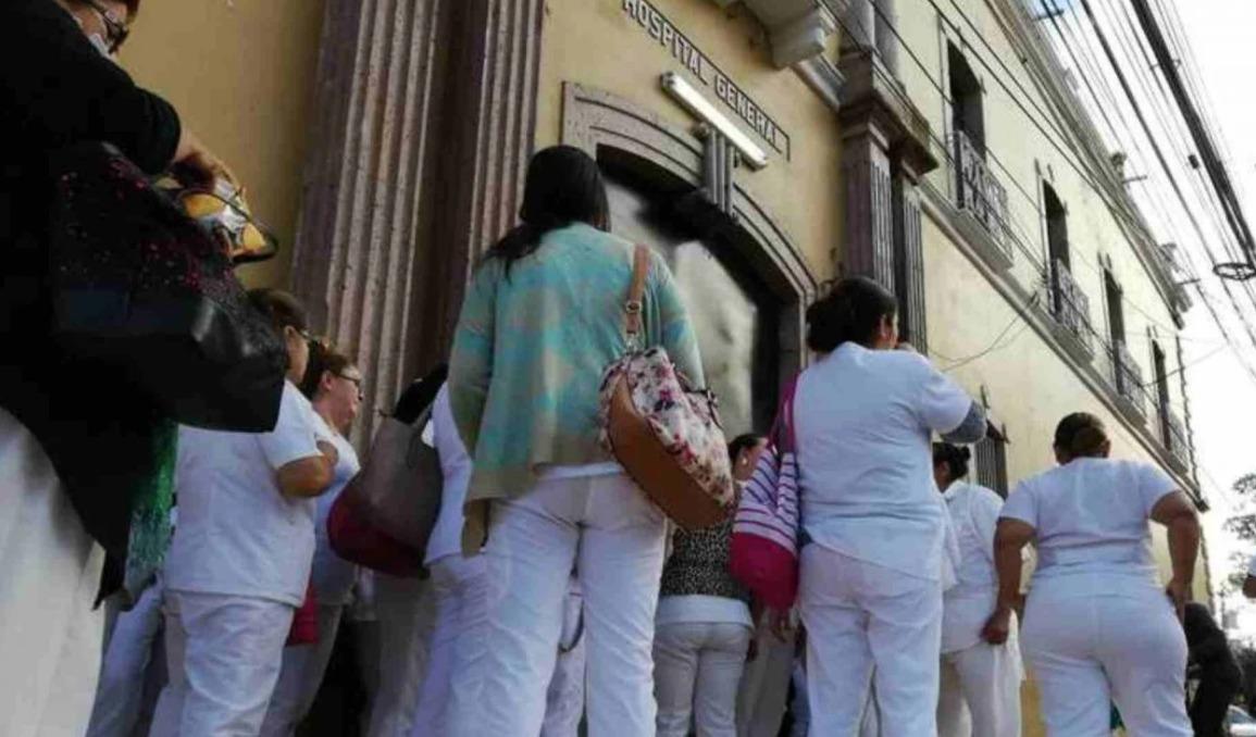 ¡Por falta de pago! empleados del Hospital San Felipe se van a paro