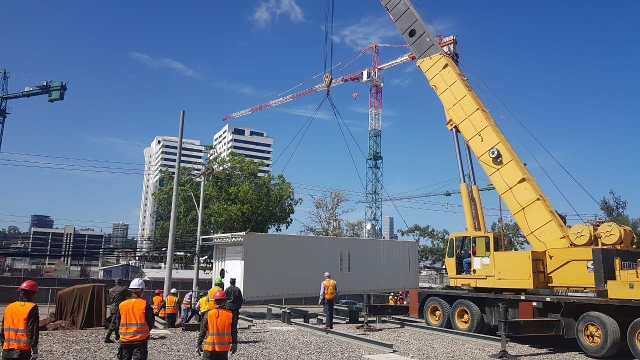 Inician trabajos de instalación de «Hospital Móvil» en  Tegucigalpa