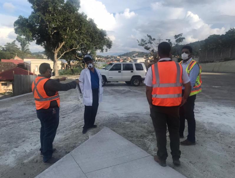 Avanzan obras en plantel para el Hospital Móvil de Santa Rosa de Copán