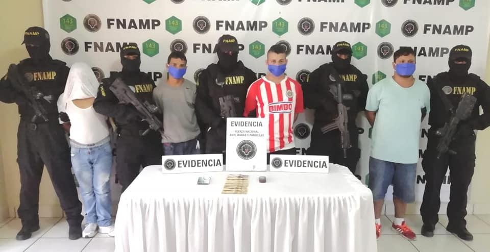 FNAMP captura a cuatro supuestos extorsionadores de la pandilla 18 en la capital