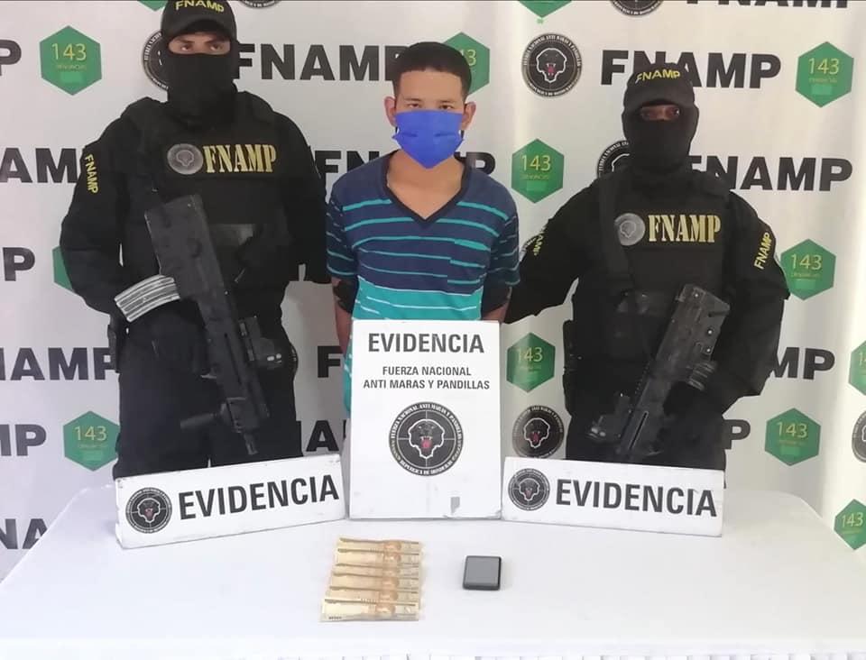 FNAMP captura a supuesto extorsionador de la pandilla «18» en la capital