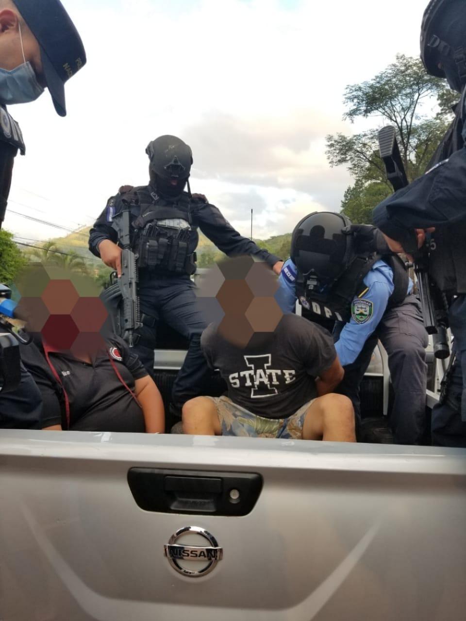 Tras operativos policiales, son capturados varios sospechosos del ilícito de homicidio en Francisco Morazán
