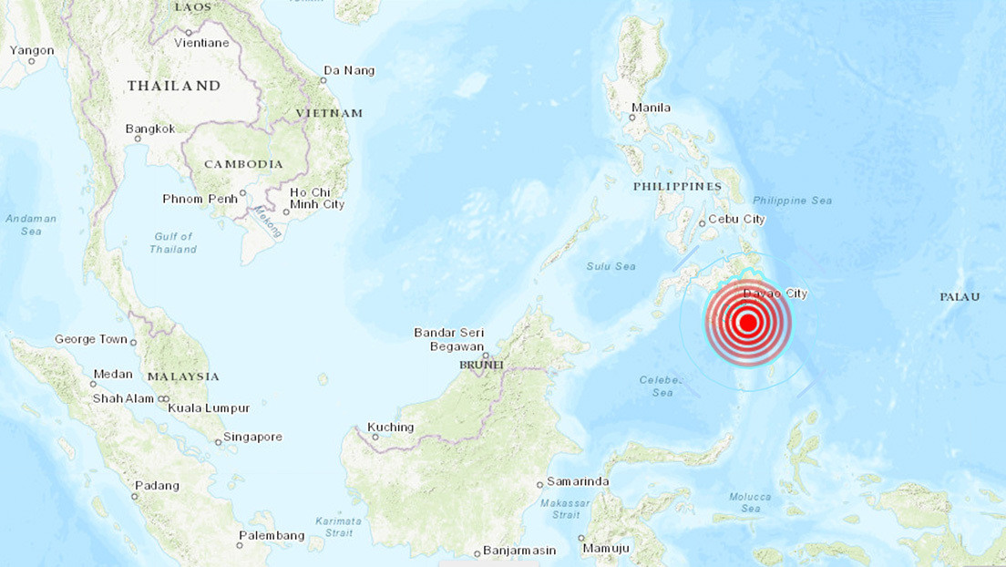 Sismo de magnitud 6,3 azota las costas de Filipinas
