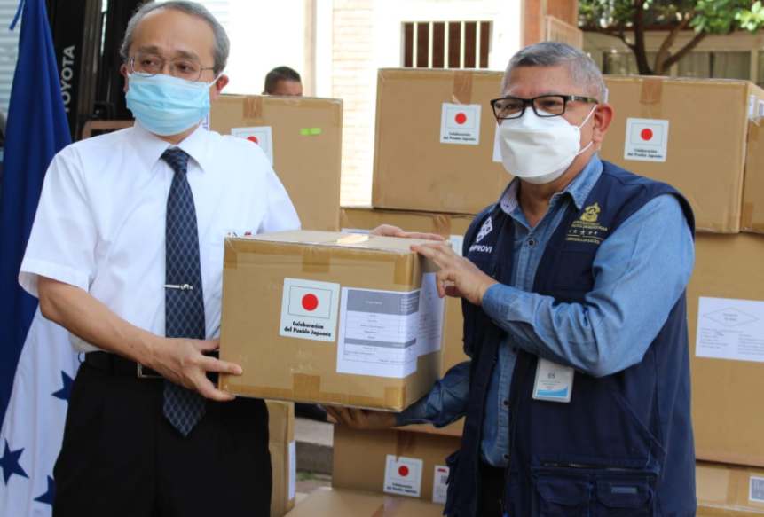 Secretaría de Salud recibe lote de equipo médico del Gobierno del Japón