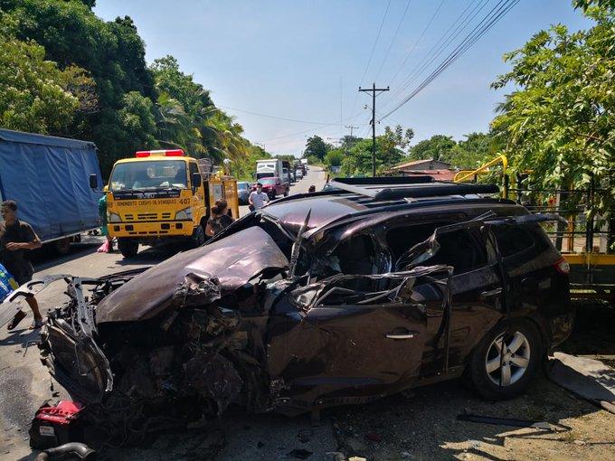 Varios heridos deja aparatoso accidente de tránsito en CA- 13, Tela, Atlántida