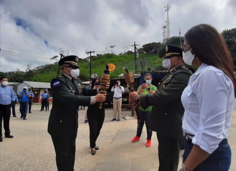 Honduras entrega la antorcha Centroamericana de la paz, la libertad y la democracia a Nicaragua
