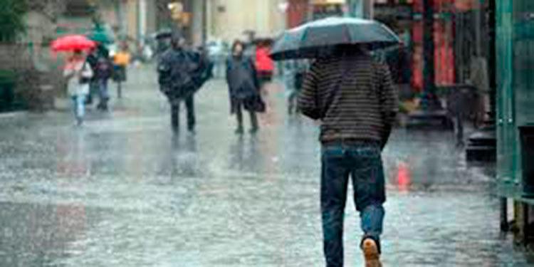 Para este miércoles reportan Lluvias y chubascos  en la mayor parte del país