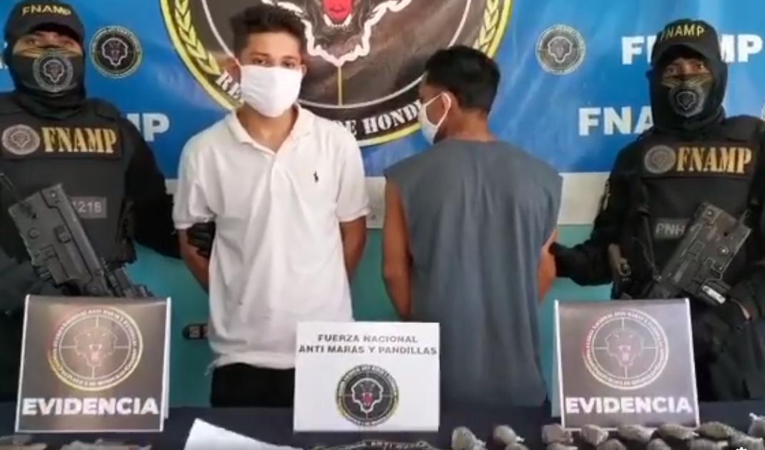 Capturan a supuestos integrantes de la MS-13 en posesión de droga en Atlántida