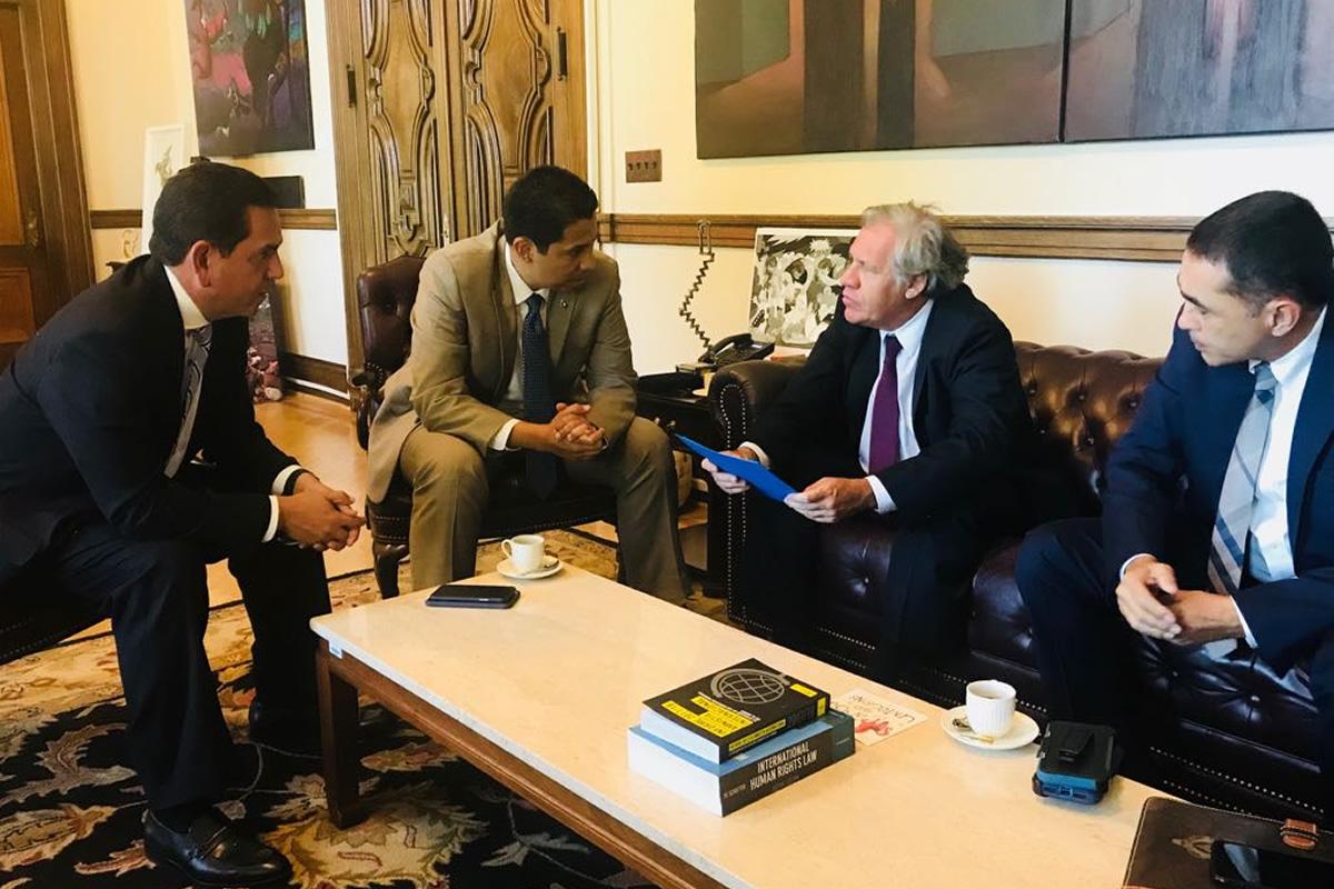 Secretario general de OEA comparte visión de Reinaldo Sánchez sobre nueva Ley Electoral en Honduras