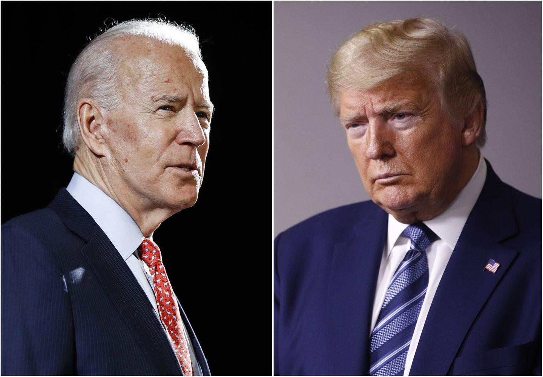 Joe Biden esta arriba por 10 puntos en las encuentras en contra de Trump