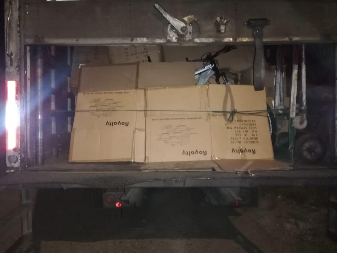Santa Bárbara: Detienen infraganti a 4 hombres con mercadería robada valorada en unos L. 350,000