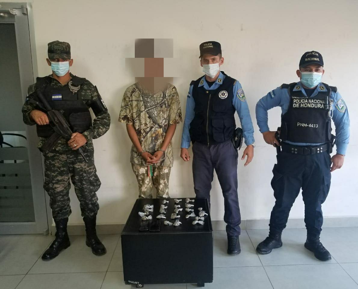 En posesión de droga capturan a supuesto integrante de la MS-13 en Choloma