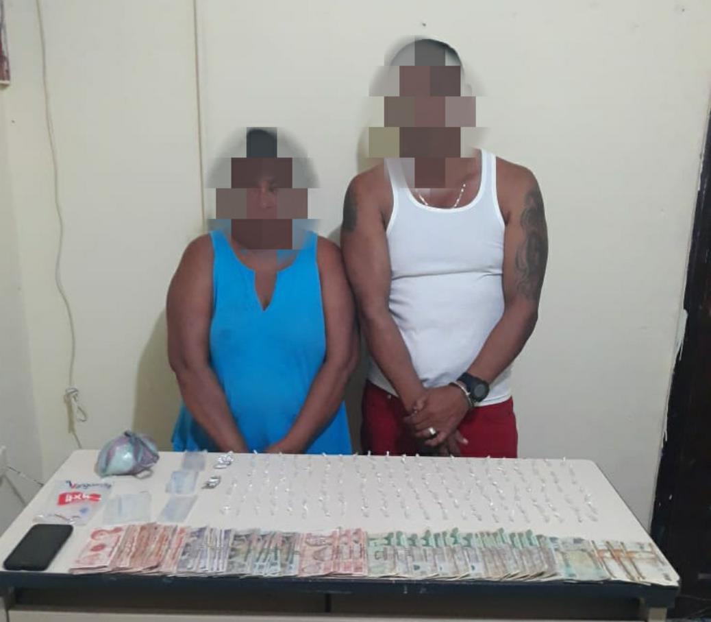 Con droga detienen a una pareja en Sabá, Colón