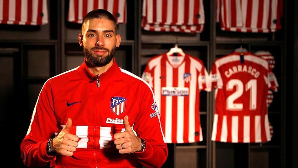 Yannick Carrasco regresa 4 temporadas al Atlético de Madrid
