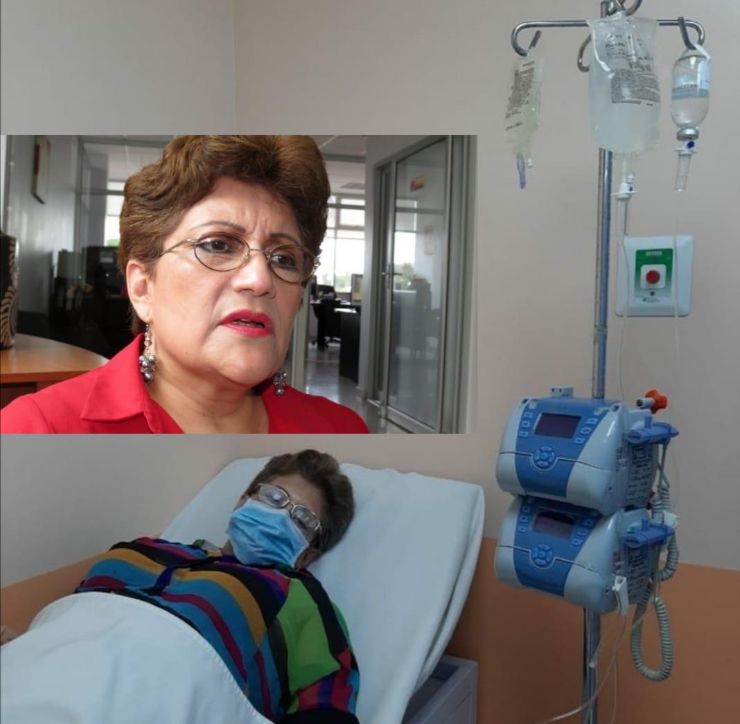 Excomisionada policial Maria Luisa Borjas  es hospitalizada por  Covid-19