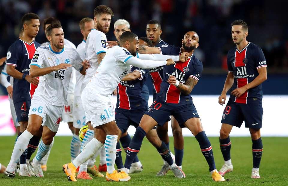Batalla campal en el clásico de Francia