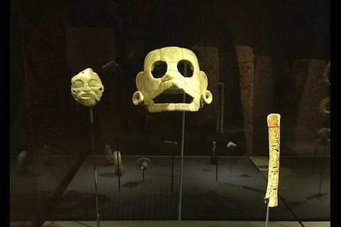 Máscara arqueológica maya de Guatemala es recuperada en Bélgica