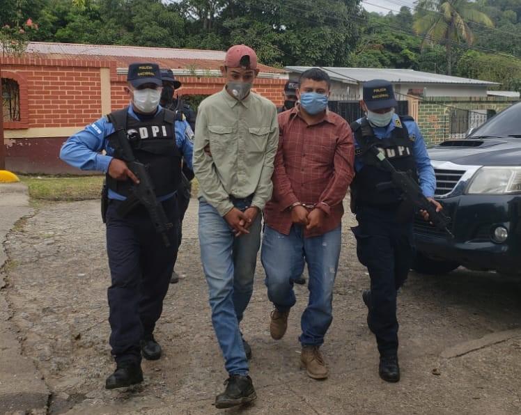 Capturan a dos cabecillas de la MS-13 acusados de secuestro en Santa Bárbara