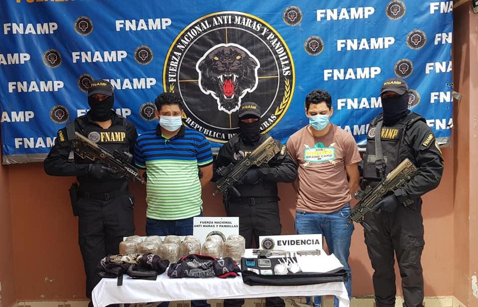 Con fuerte cantidad de droga capturan a supuestos miembros de la MS-13 en Valle