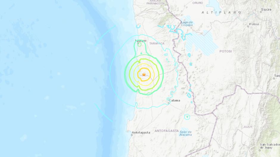 Fuerte sismo sacude el norte de Chile