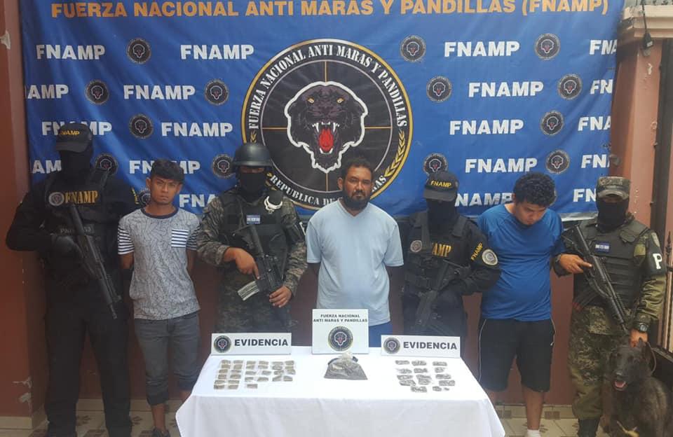 En posesión de droga capturan a tres miembros de la MS-13 en Choluteca