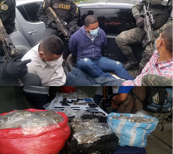 En posesión de fuerte cantidad de droga capturan a Policía activo y dos depurados