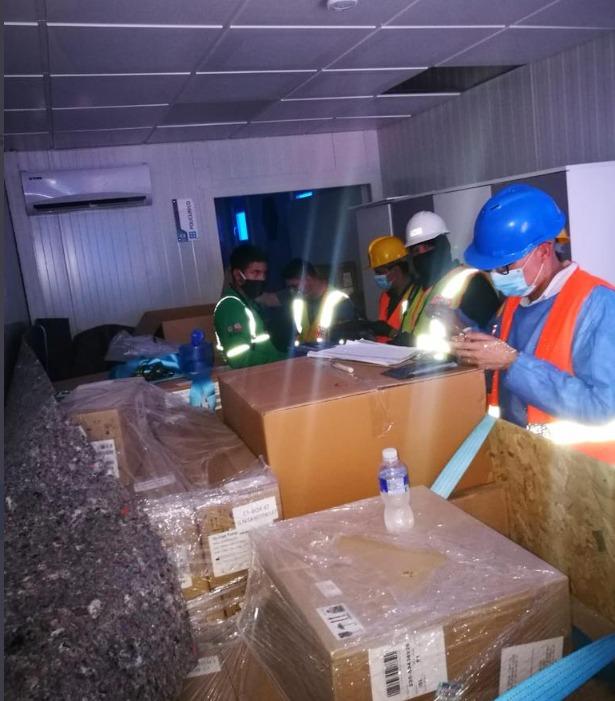 MP inicia con inspección física de 68 contenedores contentivos de dos hospitales móviles en Puerto Cortés