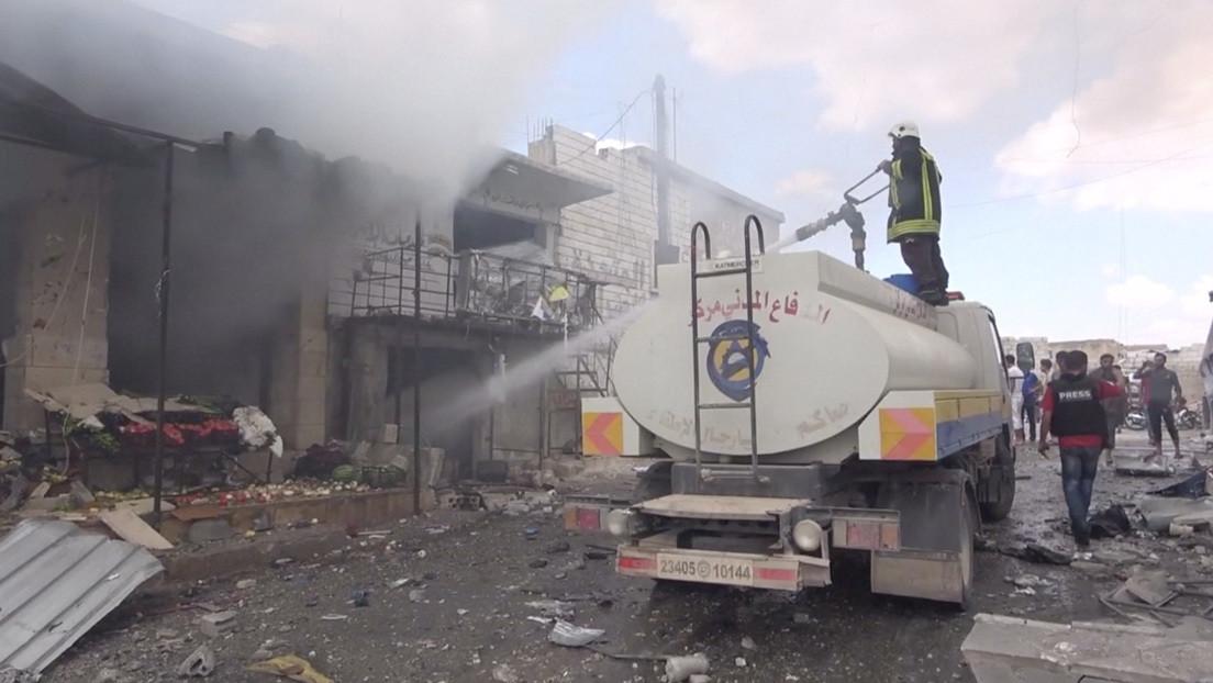 Cuatro militantes mueren durante la preparación de una provocación con armas químicas en Siria
