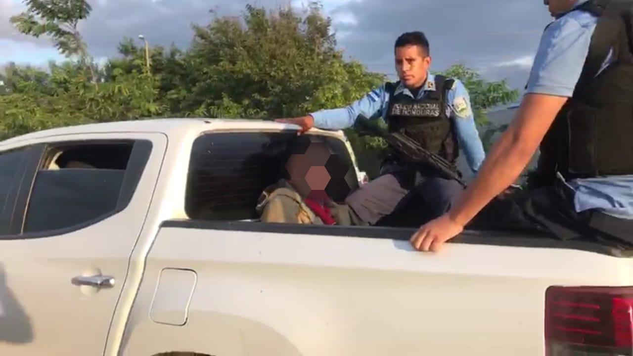Sospechoso de homicidio y porte ilegal de arma es capturado en el municipio de Ojos de Agua, Comayagua