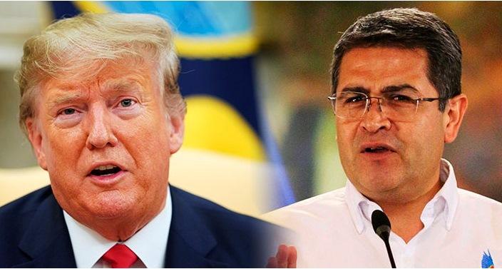 El Presidente Hernández envía sus deseos de pronta recuperación a  Trump y su esposa