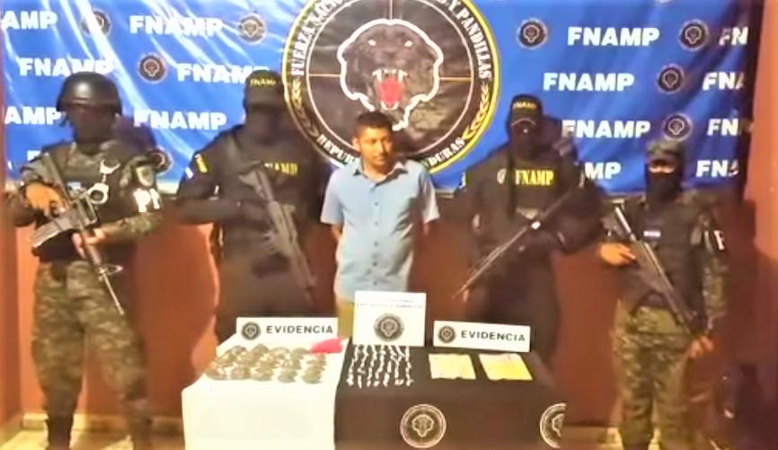 """Con fuerte cantidad de droga es capturado """"El Cacho"""" en Choluteca"""