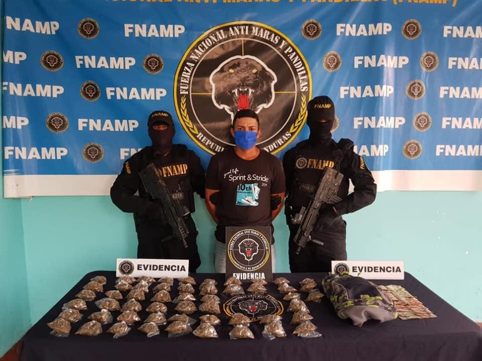 """Con fuerte cantidad de droga capturan a """"Tato"""" de la MS-13 en la zona norte"""