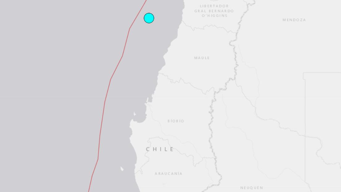 Se registra un sismo de magnitud 6,2 en la zona central de Chile