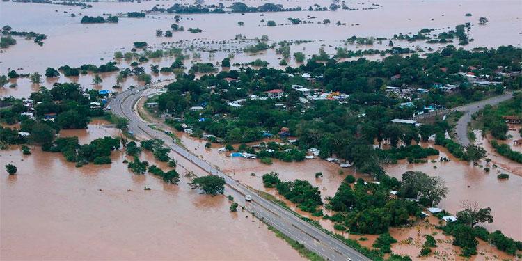 La devastación del Valle de Sula tras las lluvias de Iota
